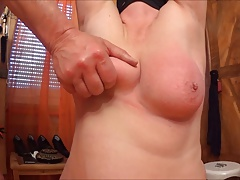 and spanking her baps