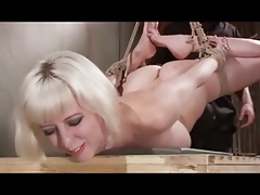 cunny caning for lady in Restrain bondage