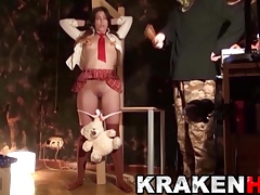 KRAKENHOT -  in her very first time at BDSM