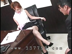 guy licking a woman's shoes