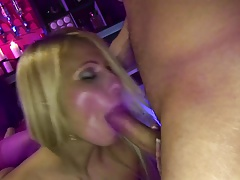 Infatuating sluts submit for a rough plumbing in the club