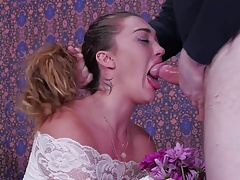 Flower nymph gets savagely face fucked and fed guy caboose