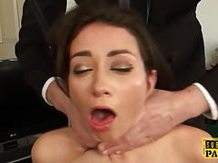 British squirter stunner  during rectal tear up