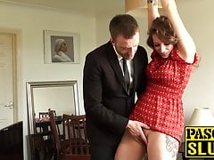 Ava rides giant hard-on after getting her  smacked very firm