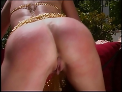 Chick getting her adorable taut donk caned