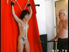 French breezy buggered in a BDSM game