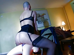 shaven victim have kinky orgy with sexdolls