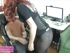 Miss Crash Pantyhose Ballbusting the new hire 1 preview
