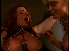 Nina Hartley and a gigantic boobies redhead into restrain bondage and BDSM