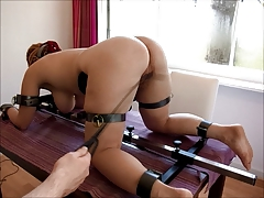 redhead Video17 floor pillory Third whipping, forceps