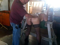 super-bitch shackled to Witnessed Funbags High-heeled slippers  Slap Domination & submission