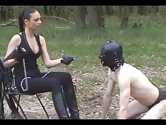 Outdoor Sub Training: Boots, Servitude & Whipping
