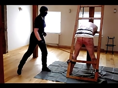highly rock hard caning session