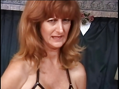 Mature w giant breasts has her puffies taunted by her tormentor