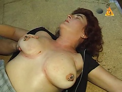 Strong pierced  victim with lots cunt rings predominated