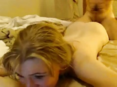 Wife by spouse in bed like a fuckslut wielded