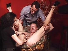 Pierced Granny with lots of genital piercings fisted