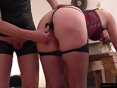 At the Bench-Little Sunshine MILF-rear view-fuck-blug-spank