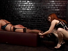 Redhead  trusses stud up and gives him a whipping