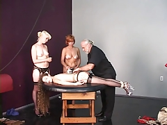 Sir gives 3 tatted marionettes a lashing