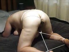wifey loves to be trussed up