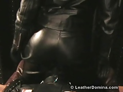 The Leather Domina - Leather Restrain bondage - Leather Facesitting