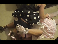 Sissy Satin maid smacked & jizm by madame-c