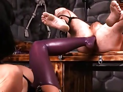 Mistress fists, and foots lucky guy