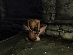 Perils of escaped Skyrim slavegirl 09