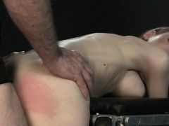 Buxom sadism & masochism dark haired slapped and assfuck plowed