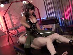 Steaming  domme Electro  and faceslapping